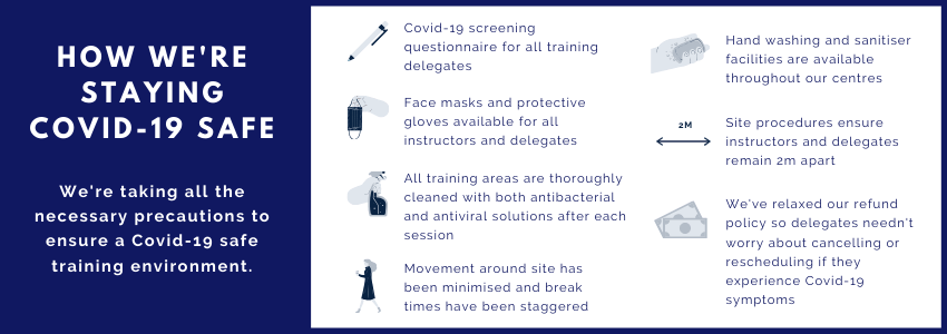 Staying Covid-19 safe at Civil Safety Training & Rescue